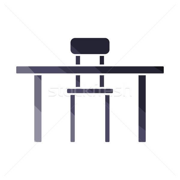 таблице Председатель икона цвета дизайна служба Сток-фото © angelp