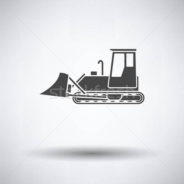 Icono construcción excavadora gris trabajo tecnología Foto stock © angelp