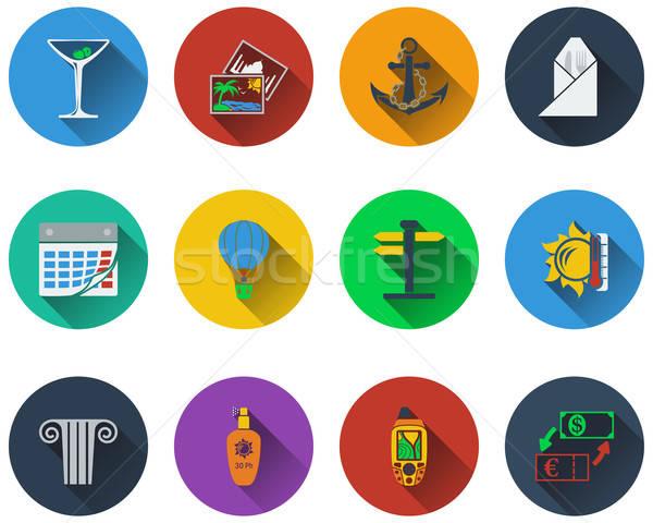 Set viaggio icone design eps Foto d'archivio © angelp