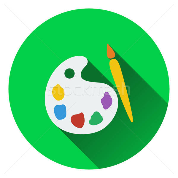 Diseno icono escuela paleta ui colores Foto stock © angelp