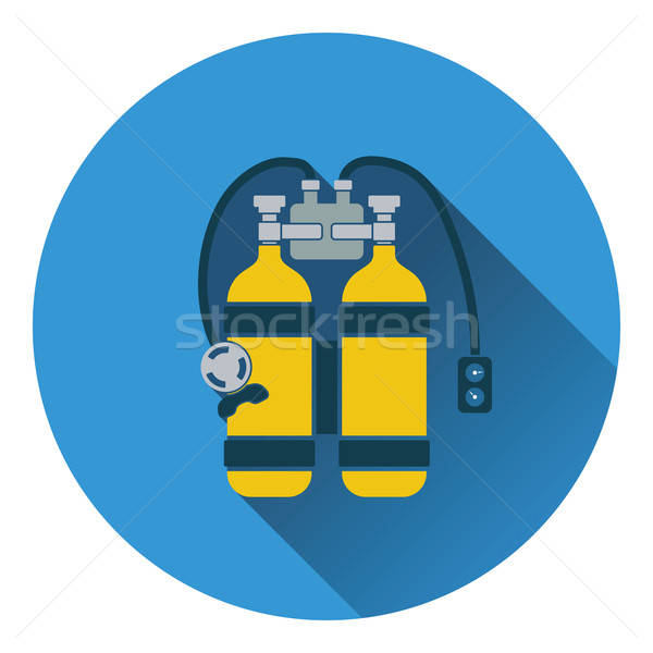 Icon of scuba Stock photo © angelp