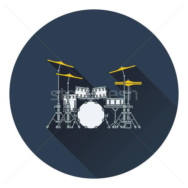 Trommel ingesteld icon school ontwerp concert Stockfoto © angelp