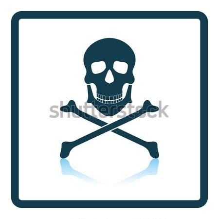 Stock photo: Icon of poison from skill and bones