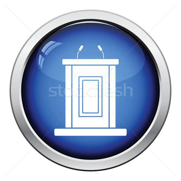Testigo stand icono botón diseno Foto stock © angelp