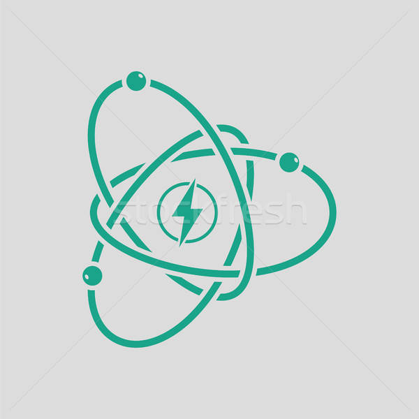 Atom energy icon Stock photo © angelp