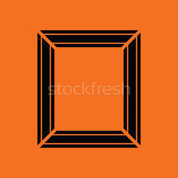 фоторамка икона оранжевый черный кадр пространстве Сток-фото © angelp