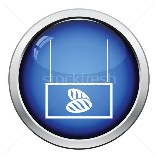 Pão mercado departamento ícone botão Foto stock © angelp