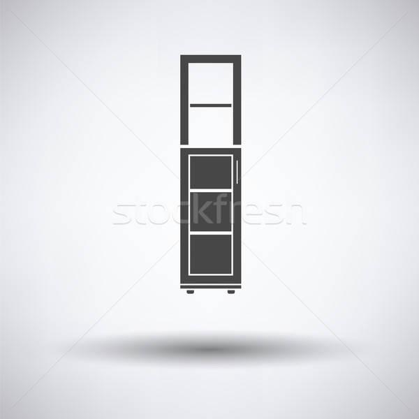 узкий икона серый дома домой Сток-фото © angelp