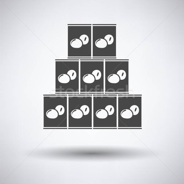 Stack of olive cans icon Stock photo © angelp