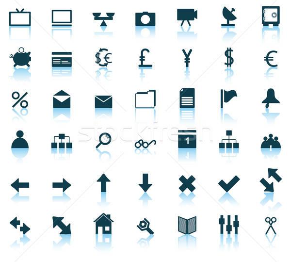 веб-иконы набор коллекция различный иконки веб-дизайна Сток-фото © angelp