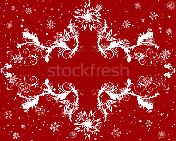 Stok fotoğraf: Noel · vektör · yılbaşı · çerçeve · dizayn · doğa