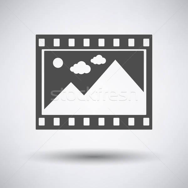 映画 フレーム アイコン グレー 自然 映画 ストックフォト © angelp