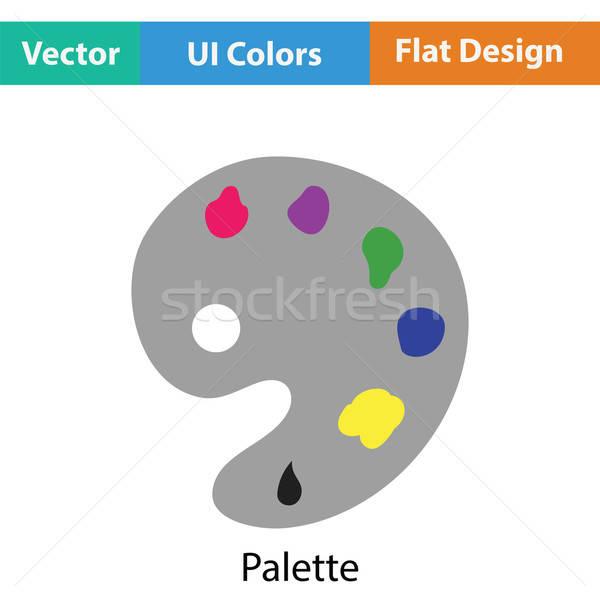Paleta icono color diseno resumen arte Foto stock © angelp