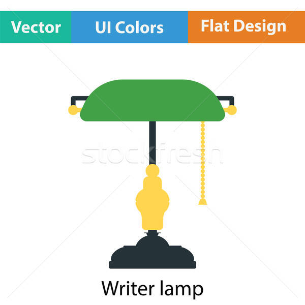 Writer's lamp icon Stock photo © angelp