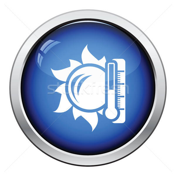 Sole termometro alto temperatura icona lucido Foto d'archivio © angelp