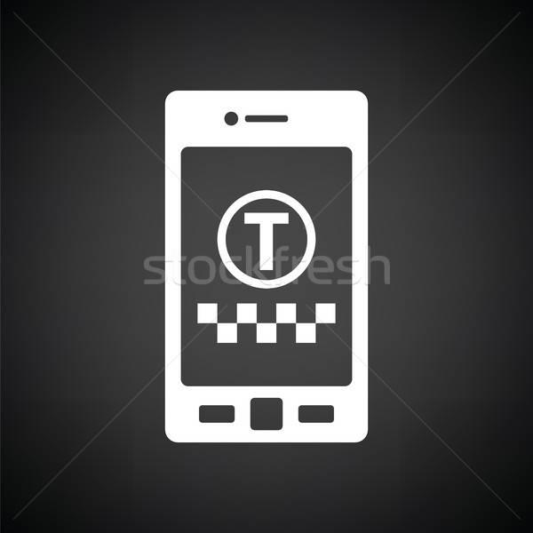 такси службе мобильных применение икона черно белые Сток-фото © angelp