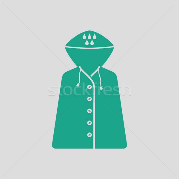 レインコート アイコン グレー 緑 ファッション 自然 ストックフォト © angelp