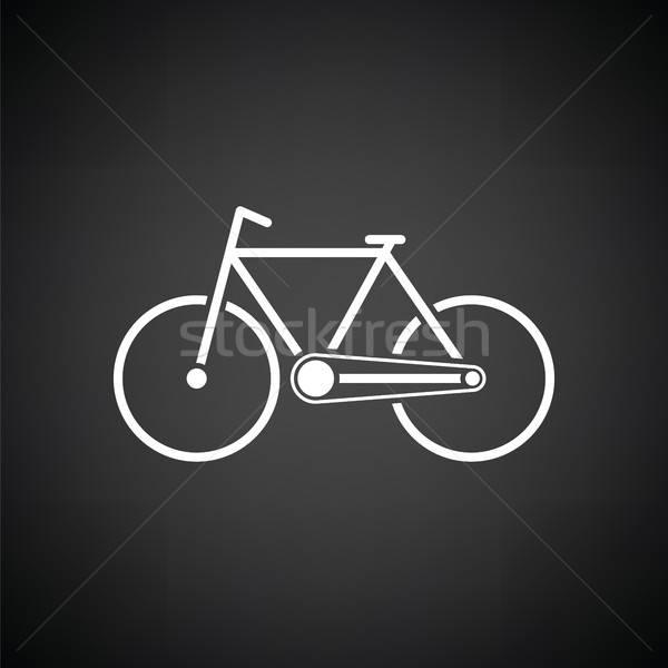 ökológiai bicikli ikon feketefehér felirat utazás Stock fotó © angelp
