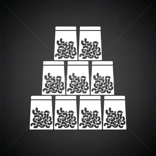 マカロニ パッケージ アイコン 黒白 食品 ショップ ストックフォト © angelp