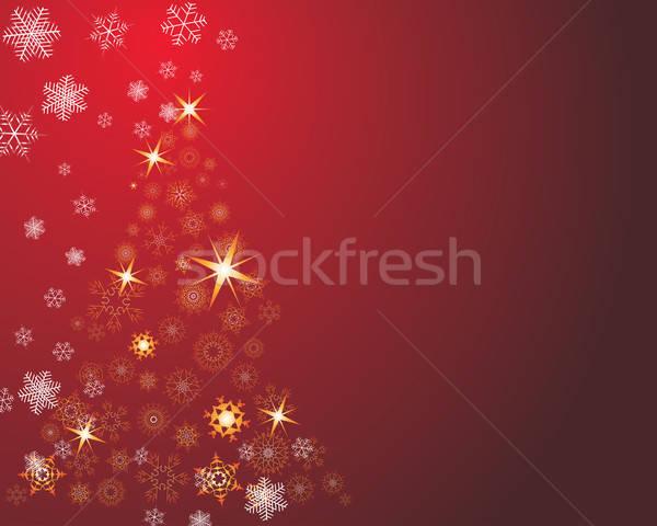 Natale cartolina capodanno saluto fuoco abstract Foto d'archivio © angelp