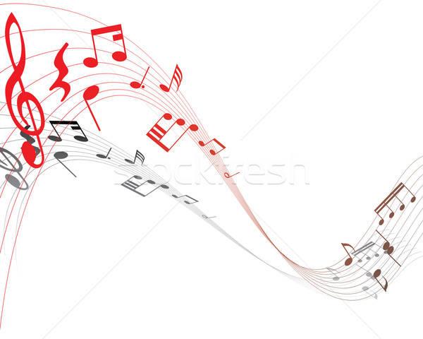 Musicale personale rosso design sfondo Foto d'archivio © angelp