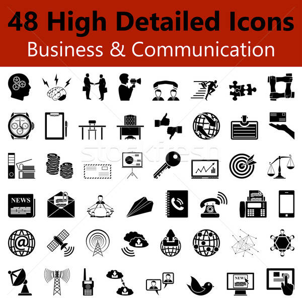 Business and Communication  Smooth Icons Stock photo © angelp