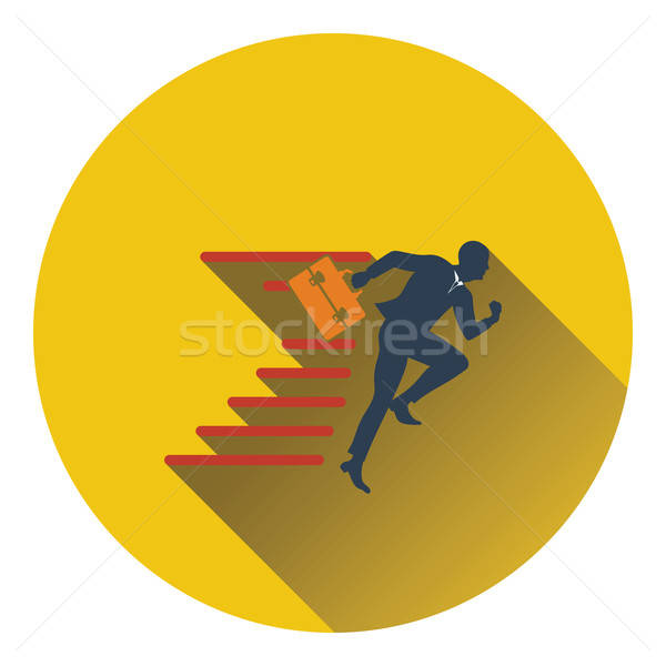 Icon of Accelerating businessman Stock photo © angelp