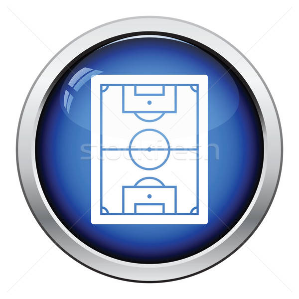 Icon of football field Stock photo © angelp