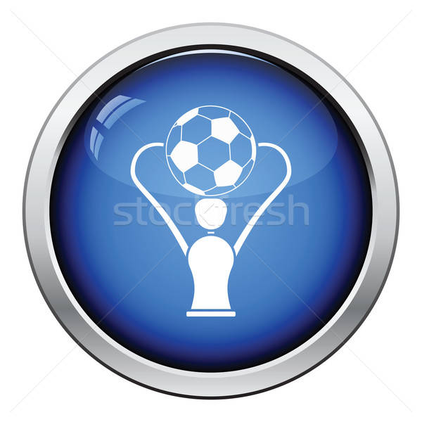 Icon of football cup Stock photo © angelp