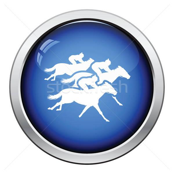 Horse ride icon Stock photo © angelp