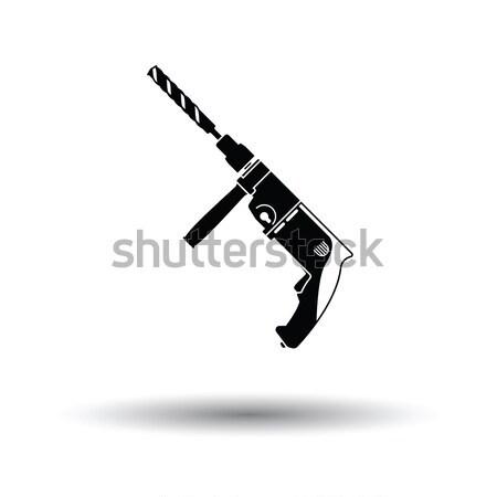 револьвер пушки икона серый дизайна черный Сток-фото © angelp