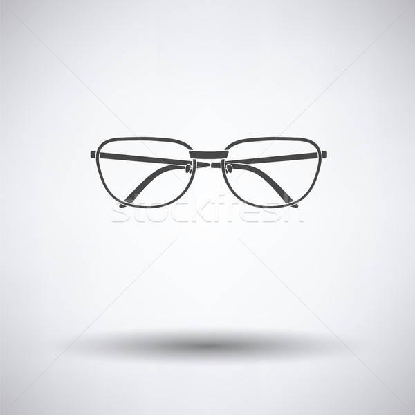 Stok fotoğraf: Gözlük · ikon · gri · göz · tıbbi · cam
