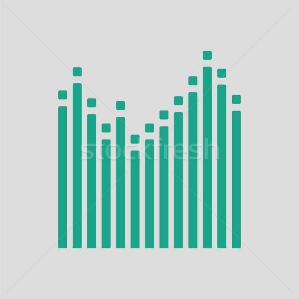 Graphic equalizer icon Stock photo © angelp
