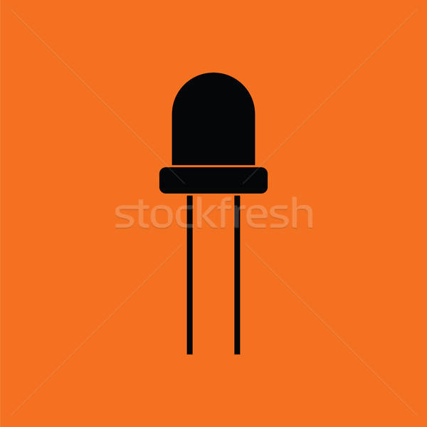 Diodo ícone laranja preto luz tecnologia Foto stock © angelp