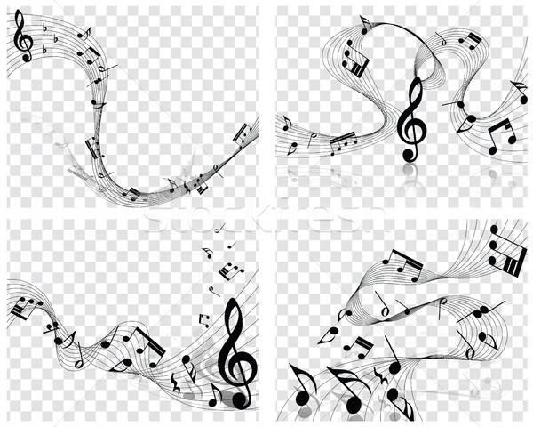 Musical Designs Stock photo © angelp