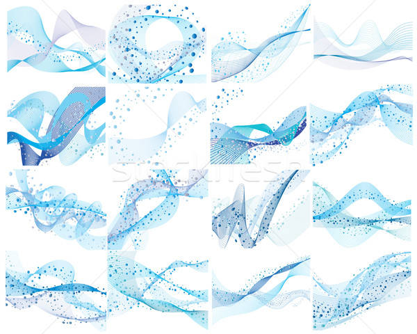 Water achtergronden ingesteld abstract vector bubbels Stockfoto © angelp