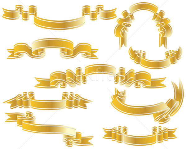 Goud ingesteld gouden vector collectie Stockfoto © angelp