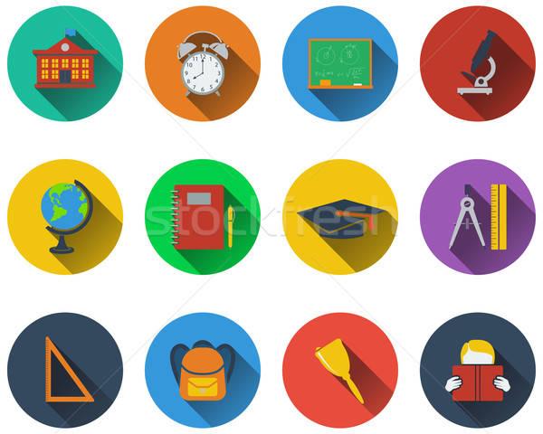 Set of school icons Stock photo © angelp