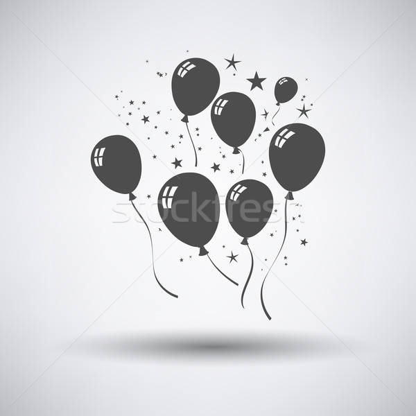 Party Balloons and Stars Icon Stock photo © angelp