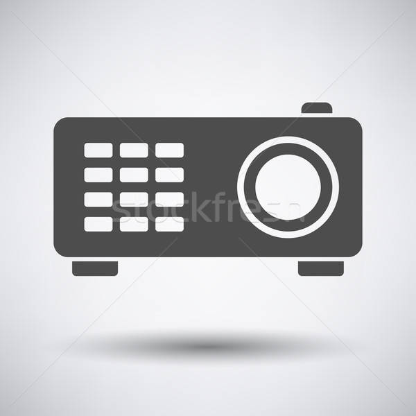 Video projector icon grijs film web Stockfoto © angelp