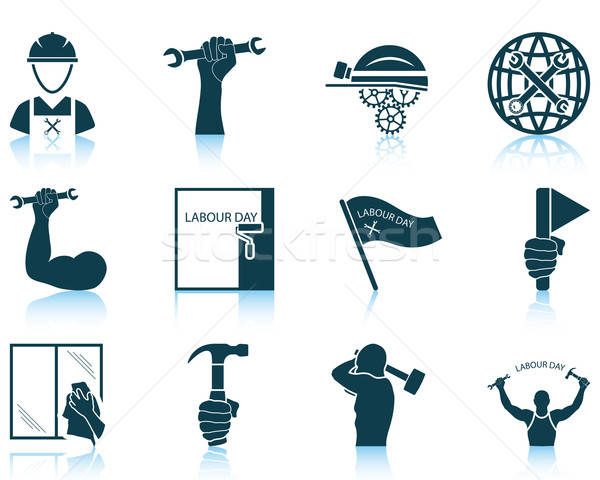 Set of Labour Day icons Stock photo © angelp