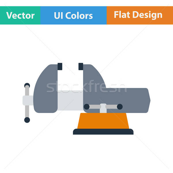 Flat design icon of vise Stock photo © angelp