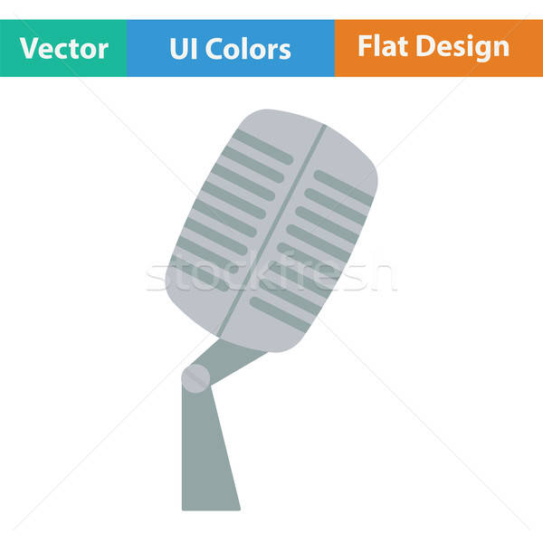 Old microphone icon Stock photo © angelp
