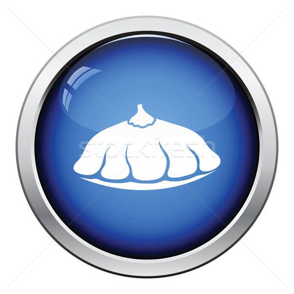 Arbusto abóbora ícone botão projeto Foto stock © angelp
