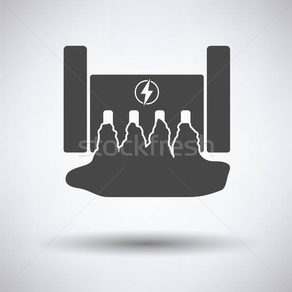 Hydro power station icon Stock photo © angelp