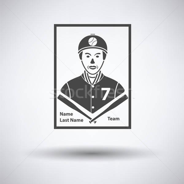 Baseball carta icona grigio segno squadra Foto d'archivio © angelp
