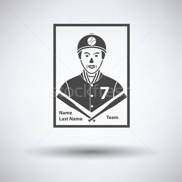 Baseball card icon Stock photo © angelp
