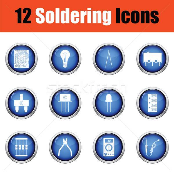 Set of soldering  icons.  Stock photo © angelp