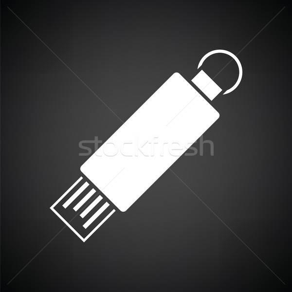 Usb フラッシュ アイコン 黒白 技術 にログイン ストックフォト © angelp