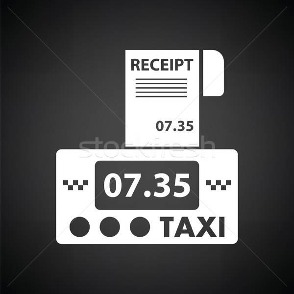такси получение икона черно белые бизнеса знак Сток-фото © angelp